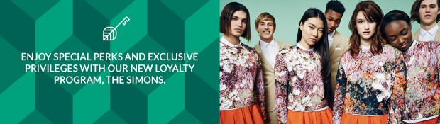 Simons Canada Join The Simons Get Double the Points for 10 Days Coupon Offer Canadian Loyalty Program Sign-Up Offers 2 - Glossense