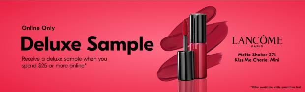 Beauty by Shoppers Drug Mart Canada Free Lancome Matte Shaker Liquid Lipstick Mini Deluxe Sample - Glossense