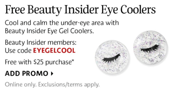 Sephora Canada Promo Code Free Beauty Insider Eye Gel Coolers Purchase - Glossense