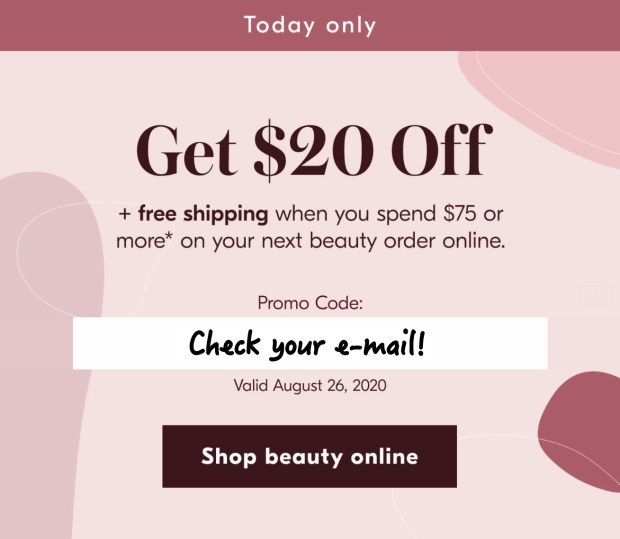 Shoppers Drug Mart Canada Exclusive E-mail Coupon Offer Save Free Shipping Canadian Online Coupons Promo Code - Glossense