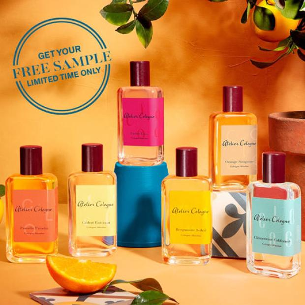 Topbox Canadian Freebies Choose a Free Atelier Cologne Perfume Sample canada free sample - Glossense