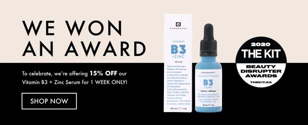 Consonant Skincare Canada 15 Off Vitamin B3 Zinc Serum September 2020 Canadian Deals Sale - Glossense