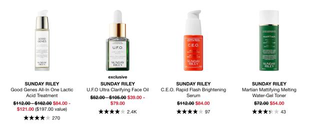 Sephora Canada Hot Sale 25 Off Sunday Riley Skincare Labour Day 2020 Canadian Deals - Glossense