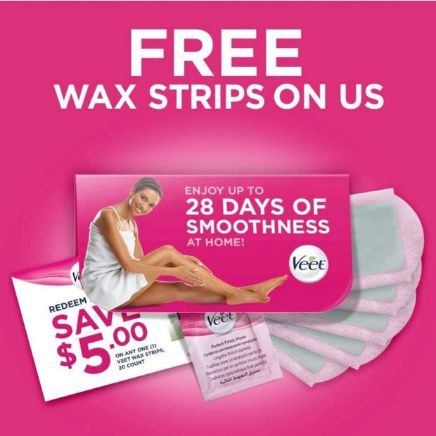 Canadian Freebies Free Veet Sample Box Wax Strips - Glossense