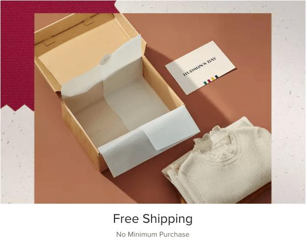 Hudson's Bay Canada Free Shipping ANY Order 2020 Canadian Holiday Deals - Glossense