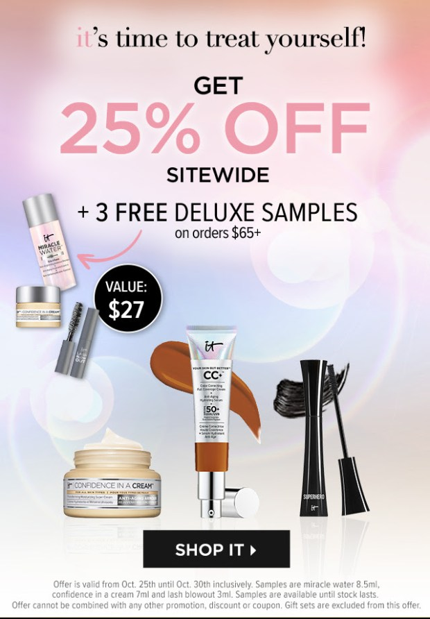 IT Cosmetics Canada 25 Off Sitewide Free Treats Halloween 2020 Canadian Deals Sale - Glossense