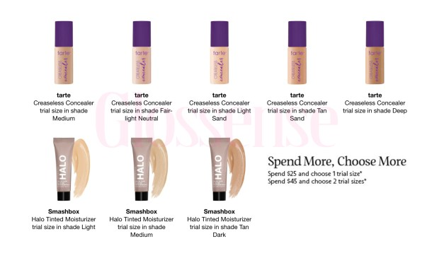 Sephora Canada Promo Code Shop More Get More Get 2 Free Smashbox Halo or Tarte Concealer Deluxe Samples Canadian GWP Offer - Glossense