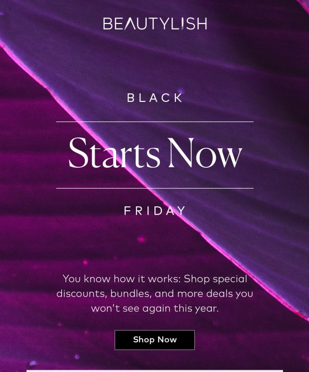 Beautylish Canada 2020 Black Friday Cyber Monday Canadian Deals Sale - Glossense