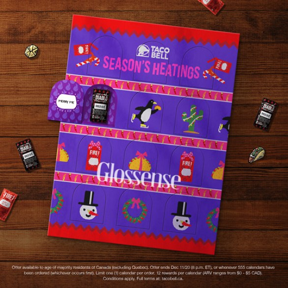 Canadian Freebies Free Taco Bell Seasons Heatings 2020 Advent Calendar - Glossense