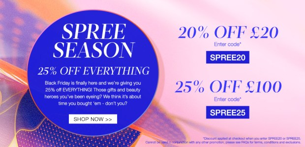 Cult Beauty Canada Spree Season 2020 Black Friday Cyber Monday Canadian Sale Deals - Glossense