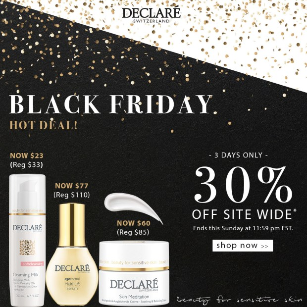 Declare Skincare Canada 2020 Black Friday Sale Save 30 Off Sitewide Canadian Deals - Glossense