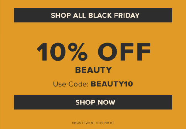 Hudson's Bay Canada 2020 Black Friday Sale Save on Beauty Cosmetics Fragrances Canadian Deals - Glossense