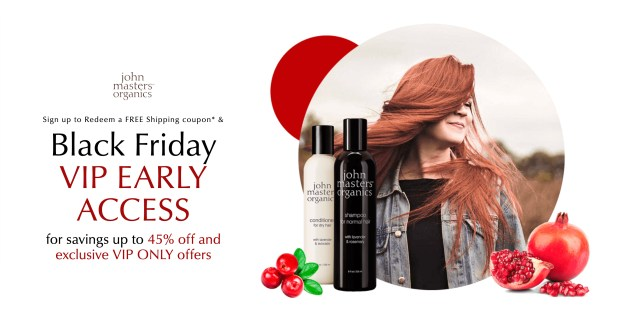 John Masters Canada Pre Early Black Friday 2020 Access Canadian Deals Sale - Glossense