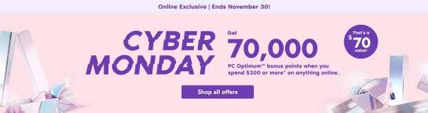 Shoppers Drug Mart Canada Cyber Monday 2020 Bonus PC Optimum Points - Glossense