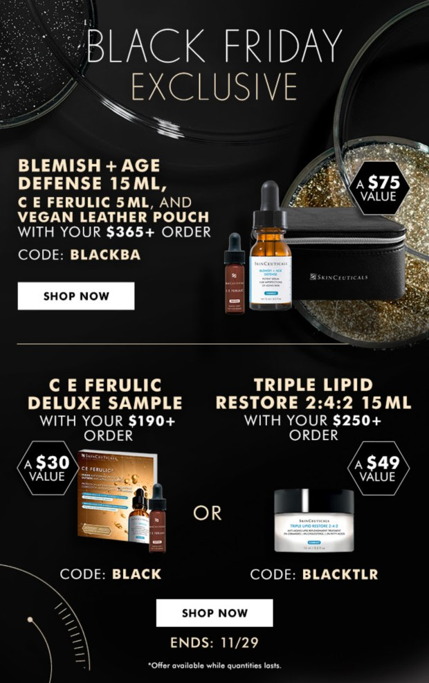 Skinceuticals Canada 2020 Black Friday Exclusives Free Gifts 2021 - Glossense