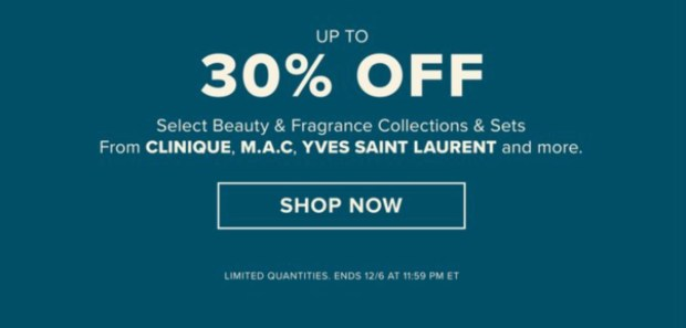 Hudson's Bay Canada Up to 30 Off Select Beauty Fragrance Sets MAC Clinique YSL More 2020 Canadian Deals Sale - Glossense