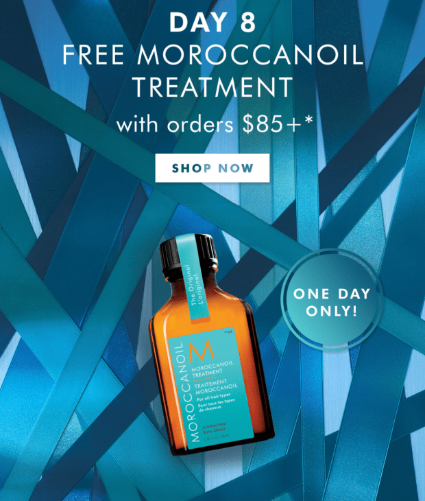 Moroccanoil Canada 12 Days of Gifting - Day 8 Free Hair Treatment 2020 Canadian Deals - Glossense