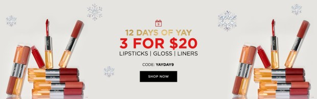 PUR Cosmetics Canada 12 Days of Yay 2020 Canadian Deals Sales Day 9 Save on Lip Products - Glossense
