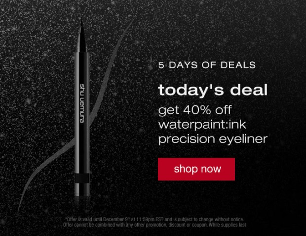 Shu Uemura Canada 5 Days of Holiday Deals Canadian Sale Offers 2020 Day 3 - Glossense