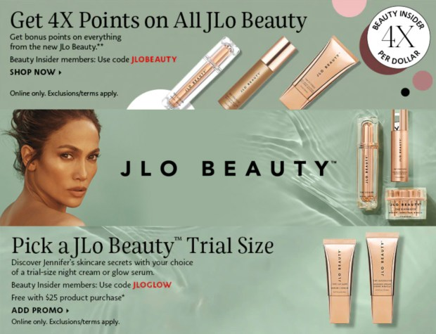 Sephora Canada JLo Beauty Get Free Glow Sample 4x Points Canadian Deals - Glossense