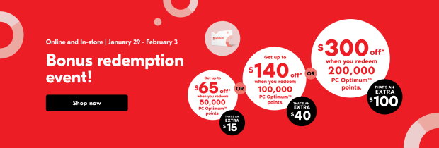 Shoppers Drug Mart Canada Spend Your Points Bonus Redemption Event Jan Feb 2021 - Glossense