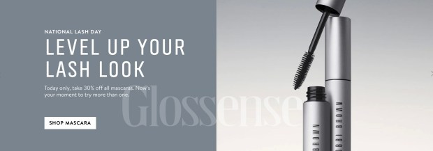 Bobbi Brown Cosmetics Canada 2021 National Lash Day Sale Deals - Glossense