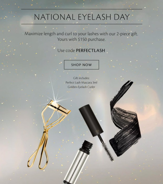 Cle de Peau Beaute National Eyelash Day 2021 Free Gift Coupon Code - Glossense