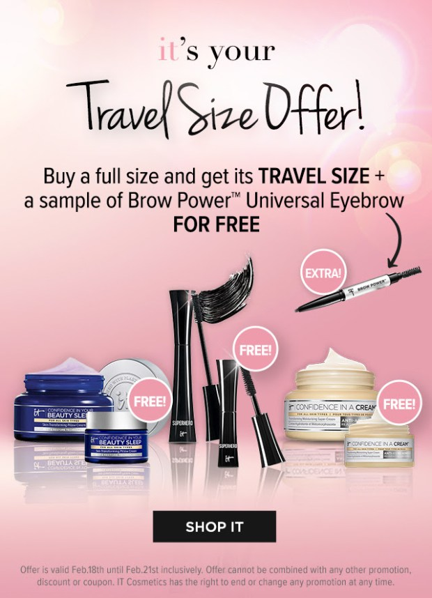 IT Cosmetics Canada National Lash Day 2021 Travel Size Offer Canadian Deals - Glossense