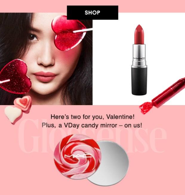 MAC Cosmetics Canada 2021 Valentine's Day Canadian Gifts Freebies Deals - Glossense
