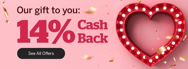 Rakuten Canada Valentine's Day Canadian Deals 14 Cash Back 2021 - Glossense