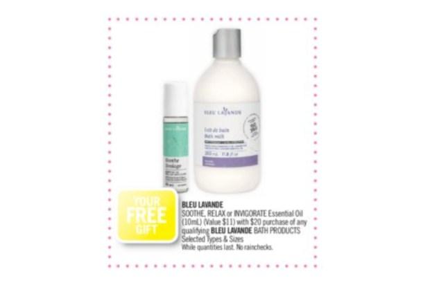 Shoppers Drug Mart Canada Shop Bleu Lavande Receive Free Essential Oil GWP Offer - Glossense