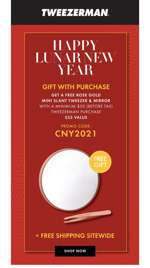 Tweezerman Canada Free Lunar New Year Gift 2021 - Glossense
