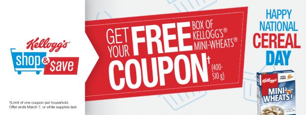Canadian Freebies Free Box of Kellogg's Mini-Wheats Cereal Coupon - Glossense