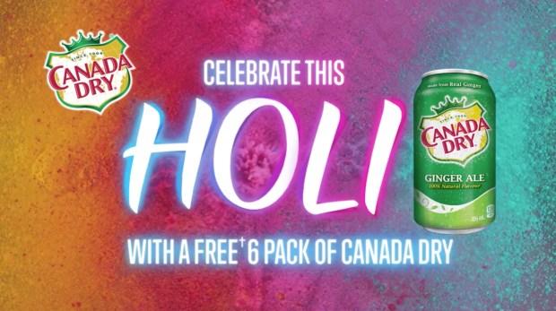 Canadian Freebies Free Canada Dry 6 Pack Holi Offer - Glossense