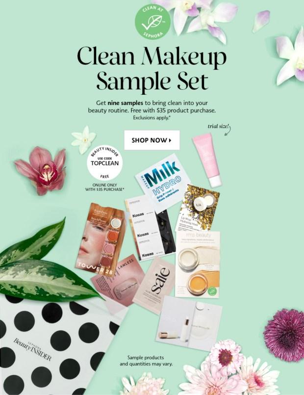 Sephora Canada Free Clean Makeup Sample Set Canadian Coupon Code Mar 2021 - Glossense