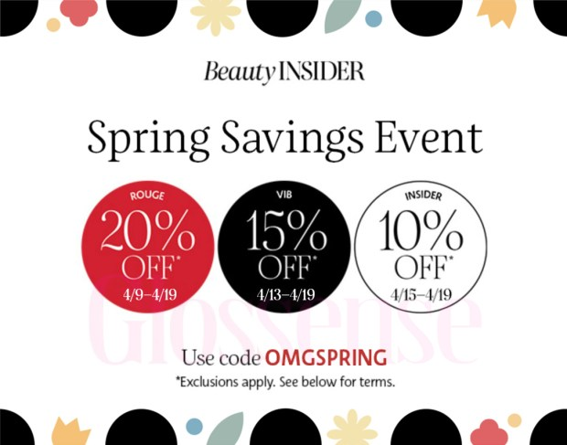 Sephora Canada Spring Savings Event 2021 Canadian Sale Deals - Glossense