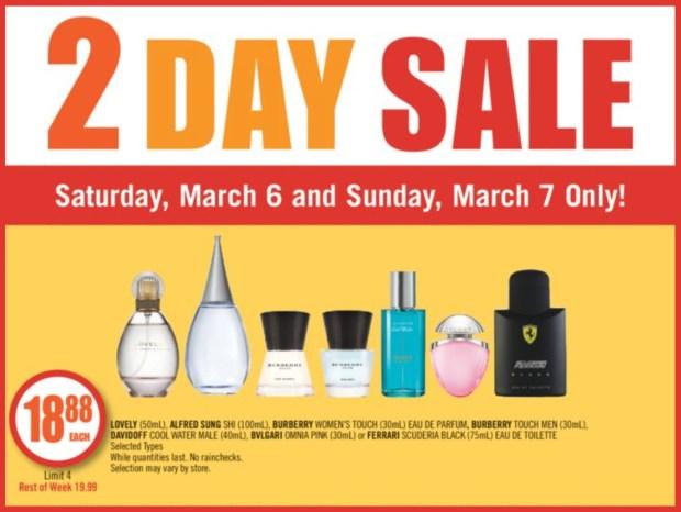 Shoppers Drug Mart Canada 2 Day Sale Fragrances March 2021 - Glossense