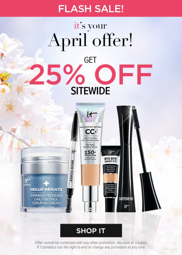 IT Cosmetics Canada April 2021 Offer Canadian Deals Earth Month - Glossense