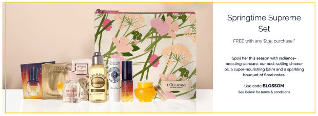 L'Occitane Canada Free Spring Gift 2021 Canadian Deals - Glossense