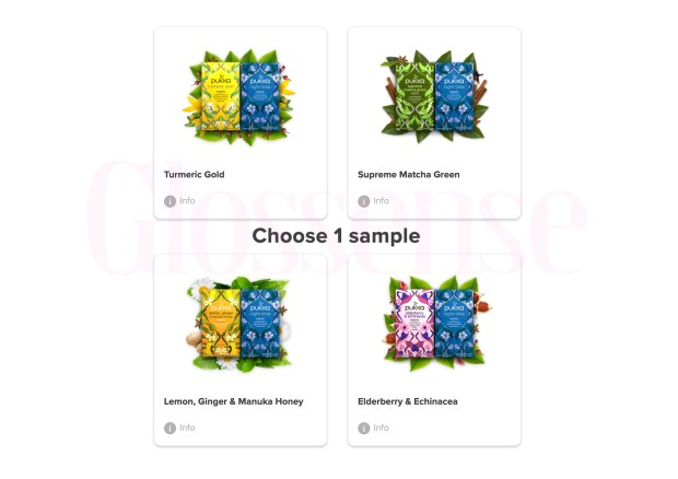 Sampler Canada Canadian Freebies Free Pukka Day Night Time Organic Tea Samples - Glossense