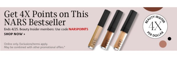 Sephora Canada Get 4x Beauty Insider Points WUB Nars Radiant Creamy Concealer - Glossense