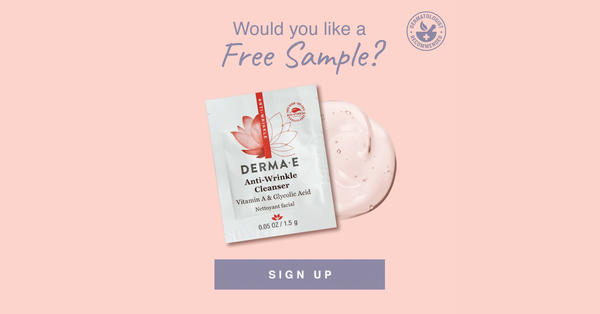 Canadian Freebies Free Derma E Anti Wrinkle Cleanser Sample - Glossense