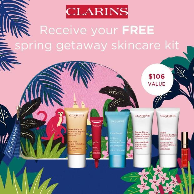 Clarins Canada Free Spring Getaway Skincare Kit GWP 2021 - Glossense