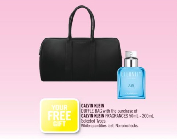 Shoppers Drug Mart Canada Free Calvin Klein Duffle Bag - Glossense