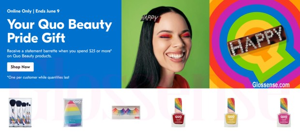 Shoppers Drug Mart Canada Free Quo Beauty Pride Gift 2021 Collection - Glossense