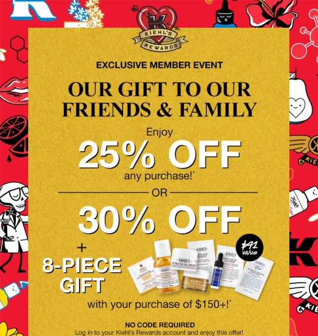 Kiehl's Canada Friends Family Sale Free Gifts Event Summer 2021 - Glossense