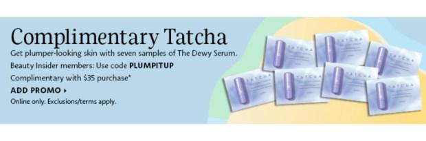 Sephora Canada Promo Code Free Tatcha The Dewy Serum Sample Set - Glossense