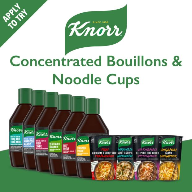 Shopper Army Canada Free Knorr Rice Noodle Cups and Concentrated Bouillon - Glossense
