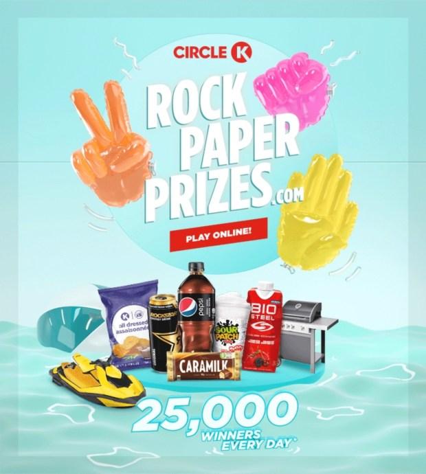 Circle K Canada Rock Paper Scissors Summer Edition 2021 Game - Glossense