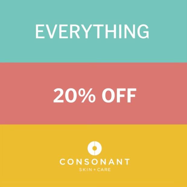 Consonant Skin Care Canada Semi Annual Sale Summer 2021 Canadian Deals - Glossense